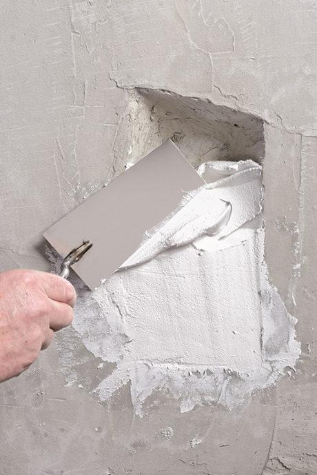 Spackla väggar