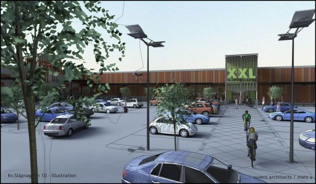 NCC bygger nytt sportvaruhus i Östersund.