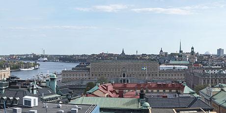Panorama från tak på Urban Escape Stockholm